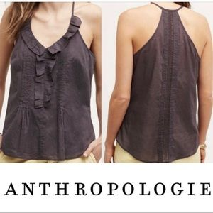 ANTHROPOLOGIE LES COCOTIERS MORA Ruffle Tank